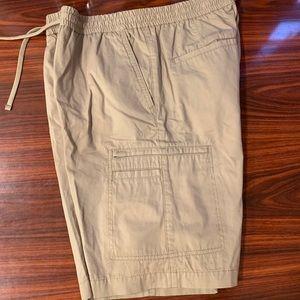 Women's Lee Dungarees Beige Cargo Shorts